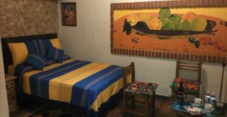 墨西哥套房卡萨阿祖尔住宿加早餐旅馆 - 墨西哥城 - 睡房