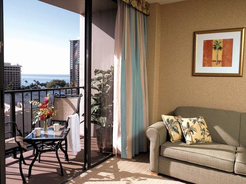 威基基阿瓜棕榈酒店 - 檀香山 - 阳台