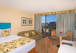 威基基阿瓜棕榈酒店 - 檀香山 - 睡房