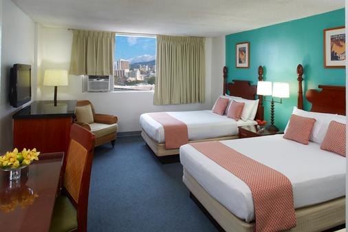 帕戈达酒店 - 檀香山 - 睡房