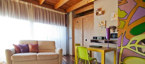 迪莫拉乐诺夫菲特酒店 - 贝加莫 - 客厅