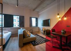阿姆斯特丹街旅舍 - 阿姆斯特丹 - 客厅