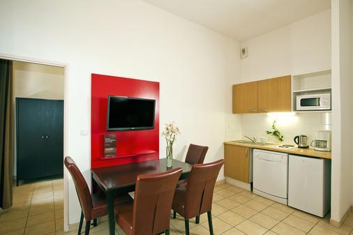 樱红南卡尔卡松公寓式酒店 - Carcassonne - 厨房