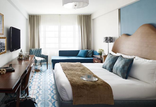 谢尔伯恩南滩酒店 - 迈阿密海滩 - 睡房