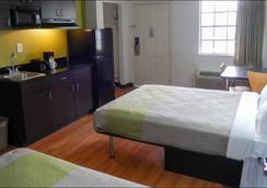 休士顿德克萨斯洲际机场南 6 号开放式公寓酒店 - 休斯顿 - 睡房