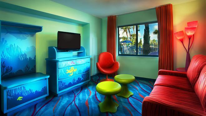 迪士尼动画艺术度假村 - 博伟湖 - 客厅