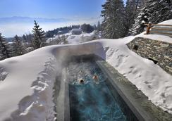 勒克兰斯水疗酒店 - 克朗-蒙大拿 - 游泳池