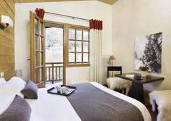 阿尔伯西酒店 - Megève - 睡房