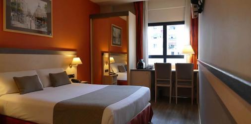 中央俱乐部日光酒店 - 巴塞罗那 - 睡房