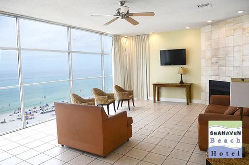 海洋天堂珊瑚礁海滩度假酒店 - 巴拿马城海滩 - 客厅
