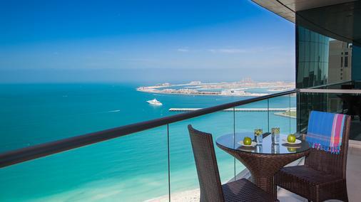 Ja绿洲海滩大厦公寓 - 迪拜 - 阳台