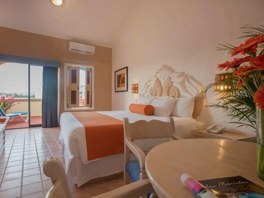 火烈鸟瓦拉塔码头酒店 - 巴亚尔塔港 - 睡房
