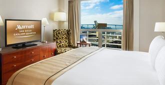 圣地亚哥瓦斯灯街区万豪酒店 - 圣地亚哥 - 睡房