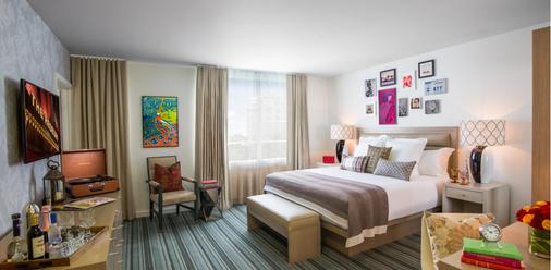瑞德贝瑞南海滩酒店 - 迈阿密海滩 - 睡房