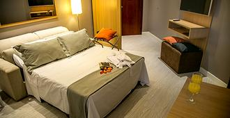 普拉亚弗莱特四海之家酒店 - 桑托斯 - 睡房