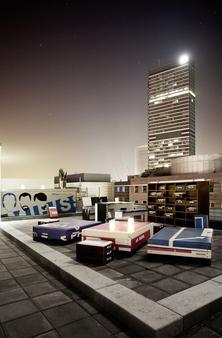 里维斯25小时酒店 - 法兰克福 - 阳台