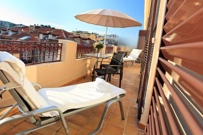 马塞娜酒店 - 尼斯 - 阳台