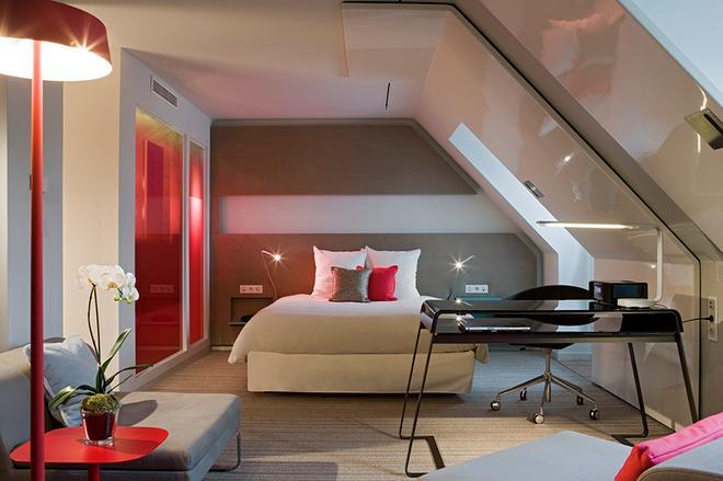 巴黎勒斯霍尔诺富特酒店 - 巴黎 - 睡房