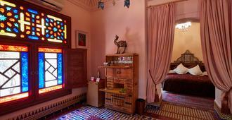 达艾尼文花园酒店&鸟类动物园 - 马拉喀什 - 睡房