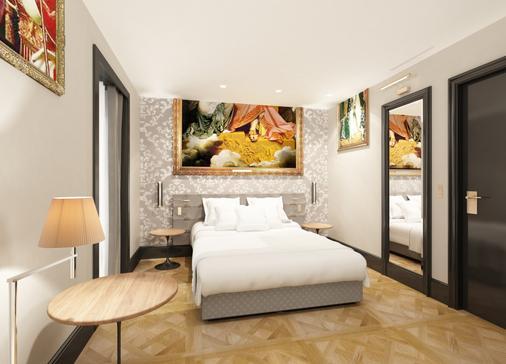 埃菲尔小卢浮宫酒店 - 巴黎 - 睡房