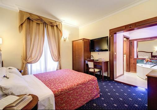 罗马艾塞德拉酒店 - 罗马 - 睡房
