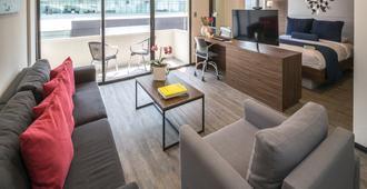 世贸中心流畅公寓式酒店 - 墨西哥城 - 客厅