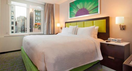 万豪城纽约曼哈顿/第五大道春季山丘套房酒店 - 纽约 - 睡房