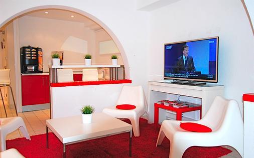 尼斯艺术酒店 - 尼斯 - 客厅