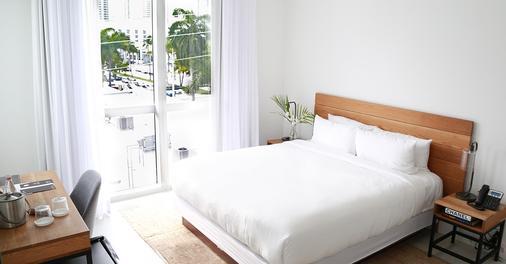 梅里迪安城市酒店 - 迈阿密海滩 - 睡房